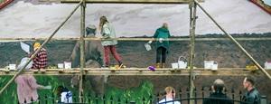 Nowy mural w Wiźnie