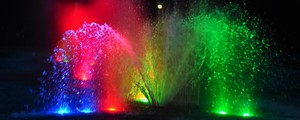 Kolorowa fontanna na Plantach