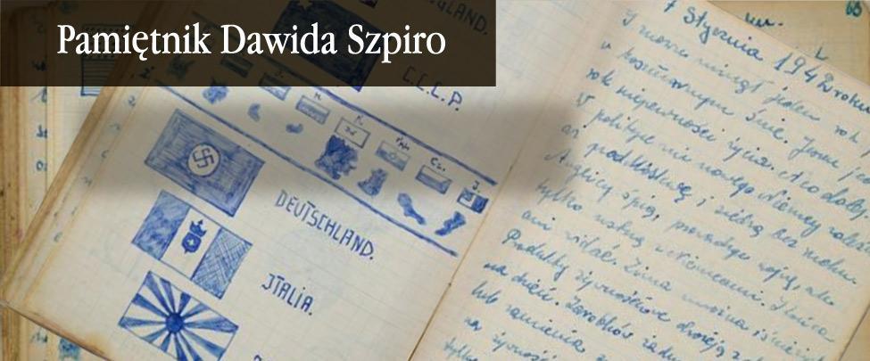 Niepozorny notes bez okładki, zapisany po polsku, parę rysunków i tyle emocji, że zdaje się jakby 18 letni Dawid Szpiro siedział gdzieś obok nas i szeptał do ucha. To głos ze środka piekła, z białostockiego getta.