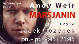 Andy Weir Marsjanin - czyta Jacek Rozenek