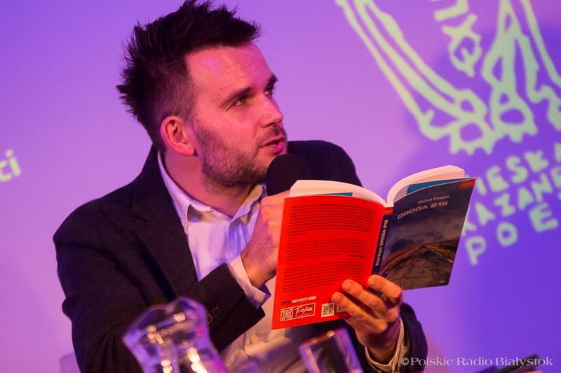 Andrzej Bajguz podczas prezentacji kandydatów do nagrody literackiej im. W. Kazaneckiego, foto: Joanna Żemojda