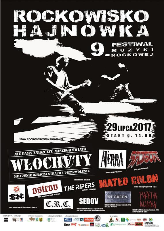 Festiwal Muzyki Rockowej Rockowisko Hajnówka 2017, źródło: mat. org.