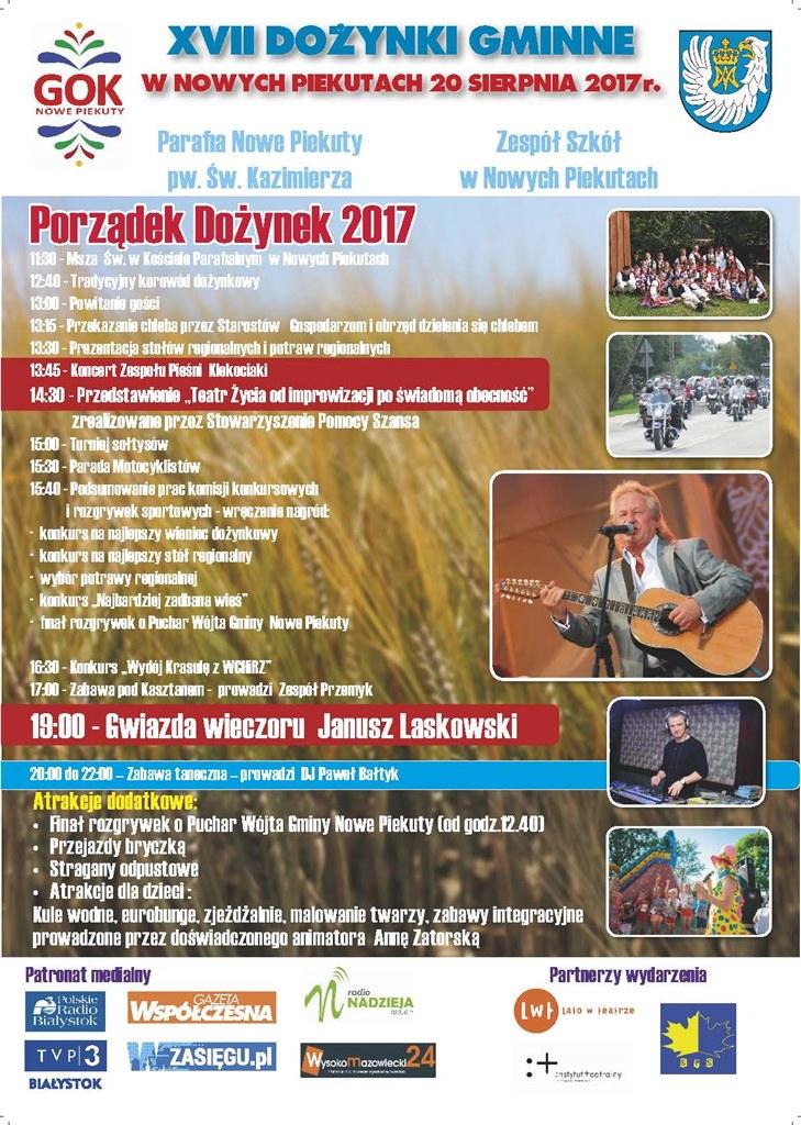 XVII Dożynki Gminne w Nowych Piekutach, źródło: mat. org.