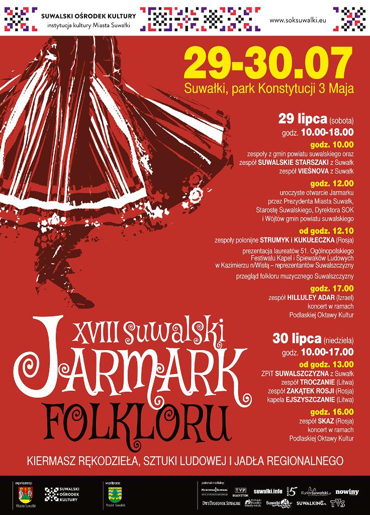 XVIII Suwalski Jarmark Folkloru, źródło: mat. org.