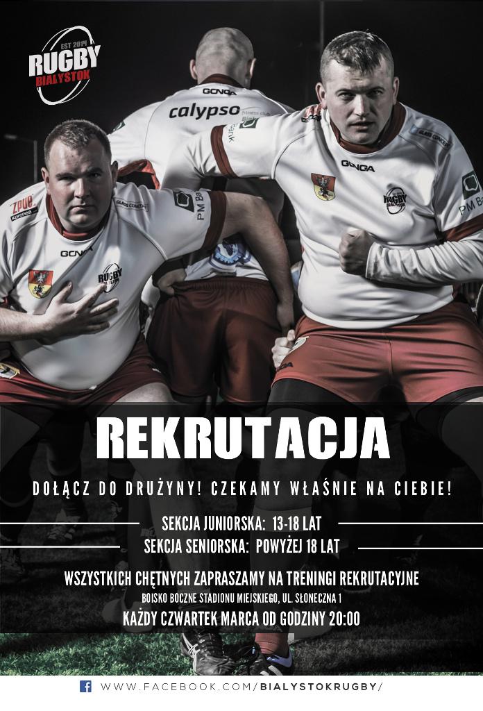 Rekrutacja do drużyny Rugby Białystok, źródło: mat. org.