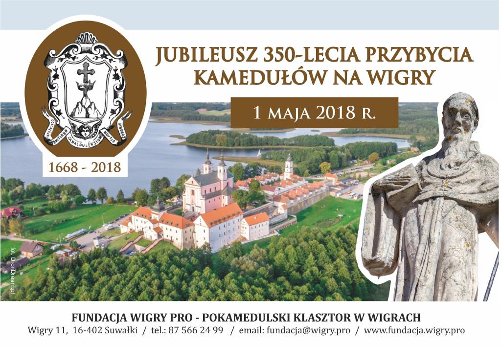 Jubileusz 350-lecia przybycia kamedułów na Wigry, źródło: mat. org.