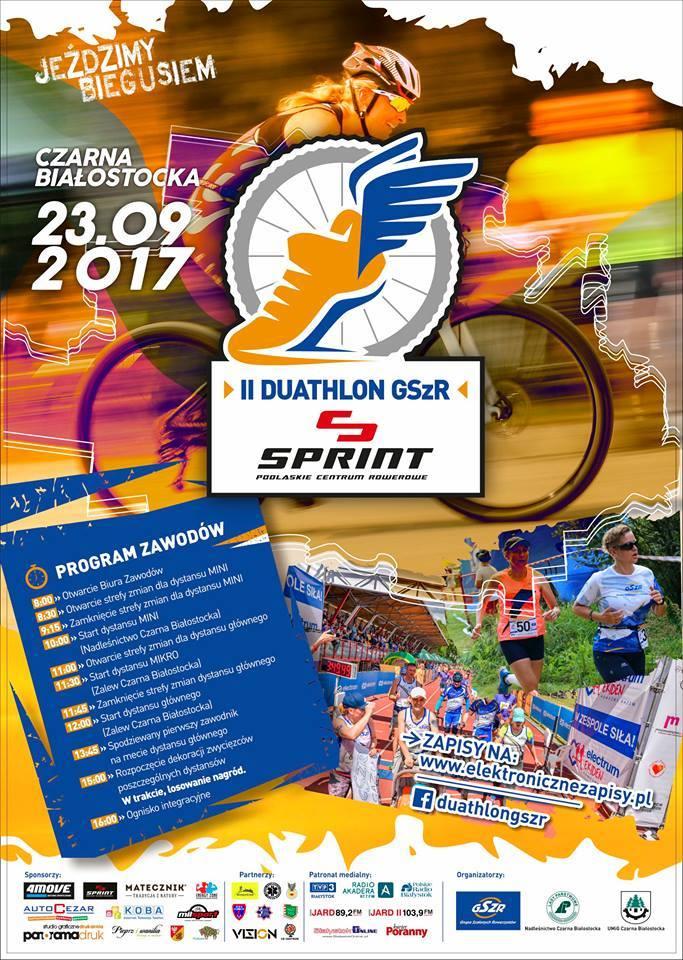 II Duathlon GSzR Sprint Podlaskie Centrum Rowerowe, źródło: mat. org.