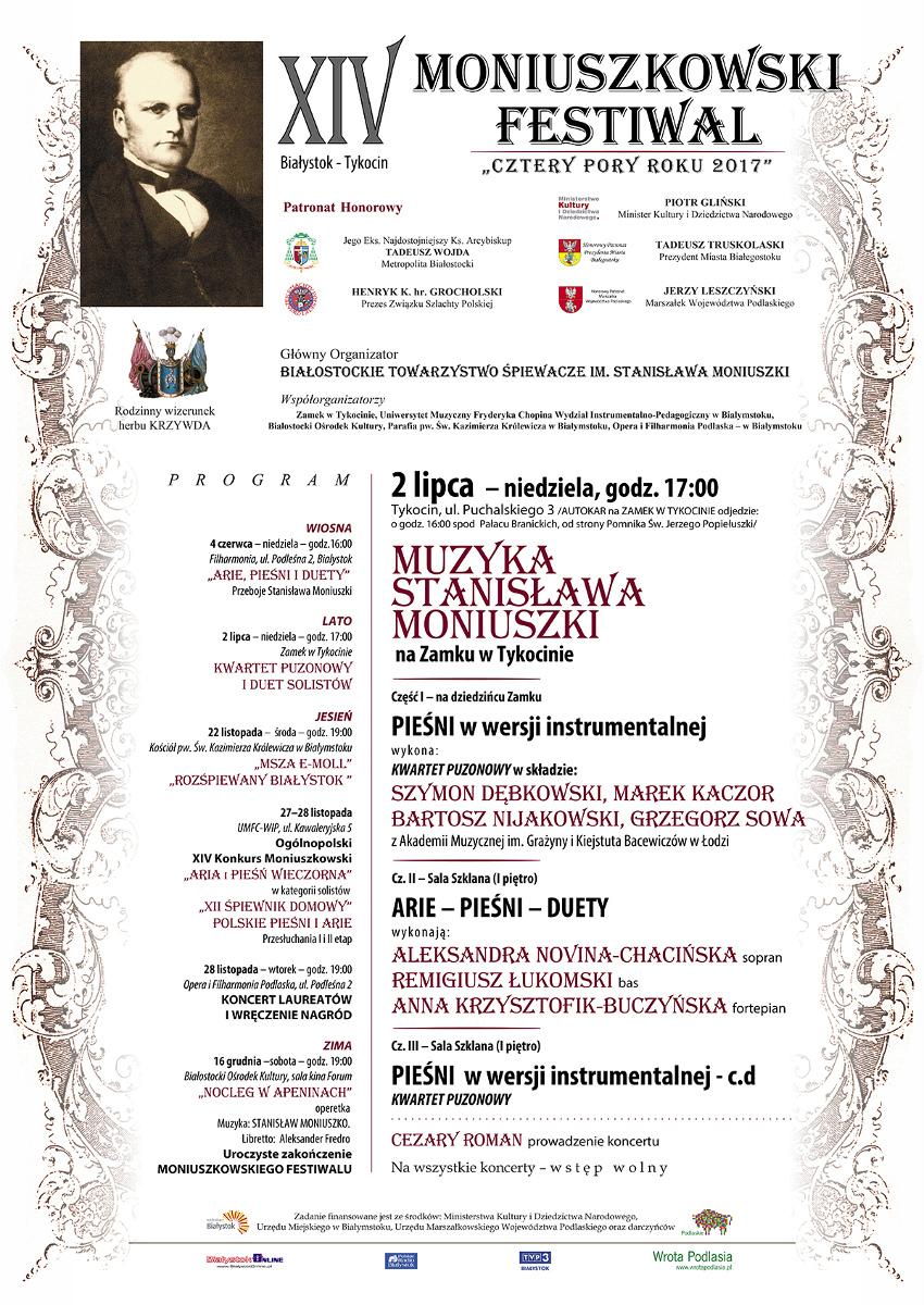 """XIV Moniuszkowski Festiwal """"Cztery pory roku"""" 2017, źródło: mat. org."""