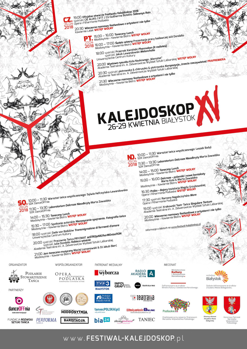 XV Festiwal Kalejdoskop 2018, źródło: mat. org.