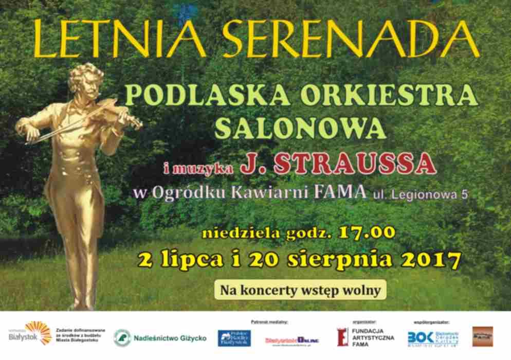 Letnia serenada - Podlaska Orkiestra Salonowa w ogródku kawiarni Fama, źródło: mat. org.