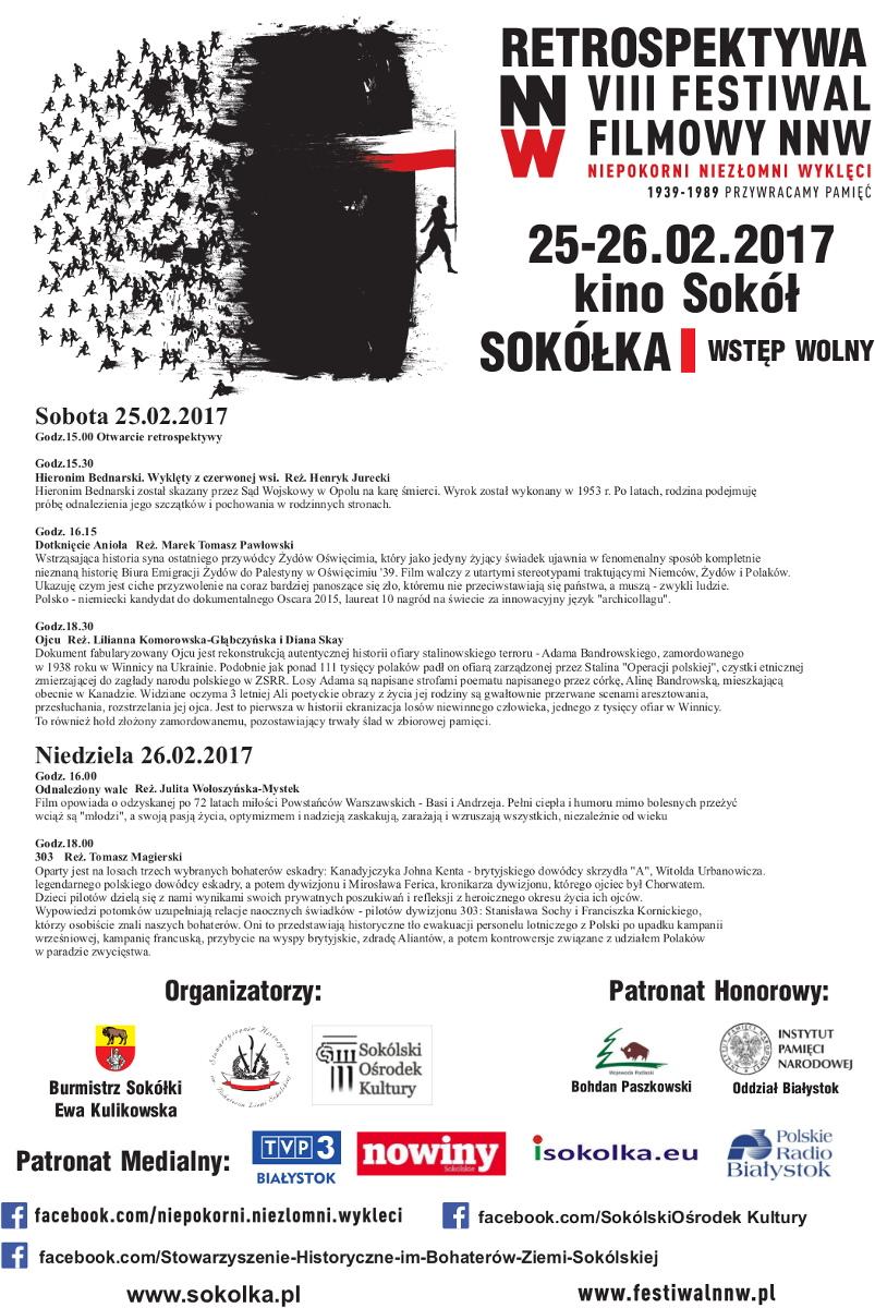 """Retrospktywa Festiwalu Filmowego """"Niepokorni, Niezłomni, Wyklęci"""" w Sokółce, źródło: mat. org."""