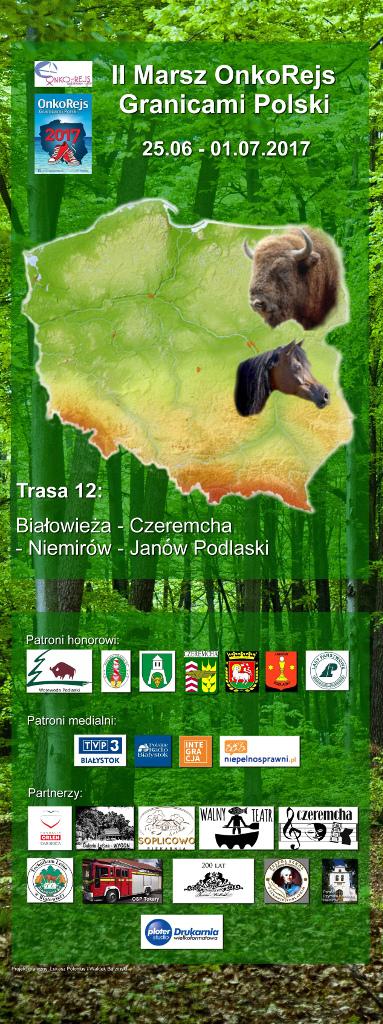 II Marsz OnkoRejs Granicami Polski, źródło: mat. org.