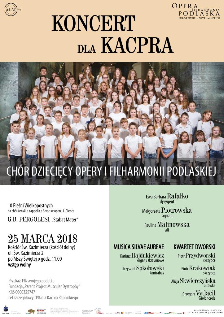 """""""Koncert dla Kacpra"""" w wykonaniu Chóru Dziecięcego OiFP, źródło: mat. org."""