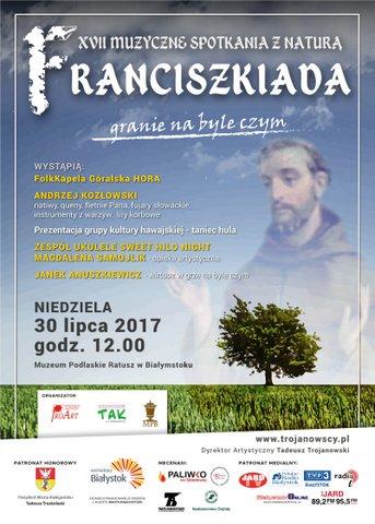 """XVII Muzyczne Spotkania z Naturą """"Franciszkiada 2017"""", źródło: mat. org."""