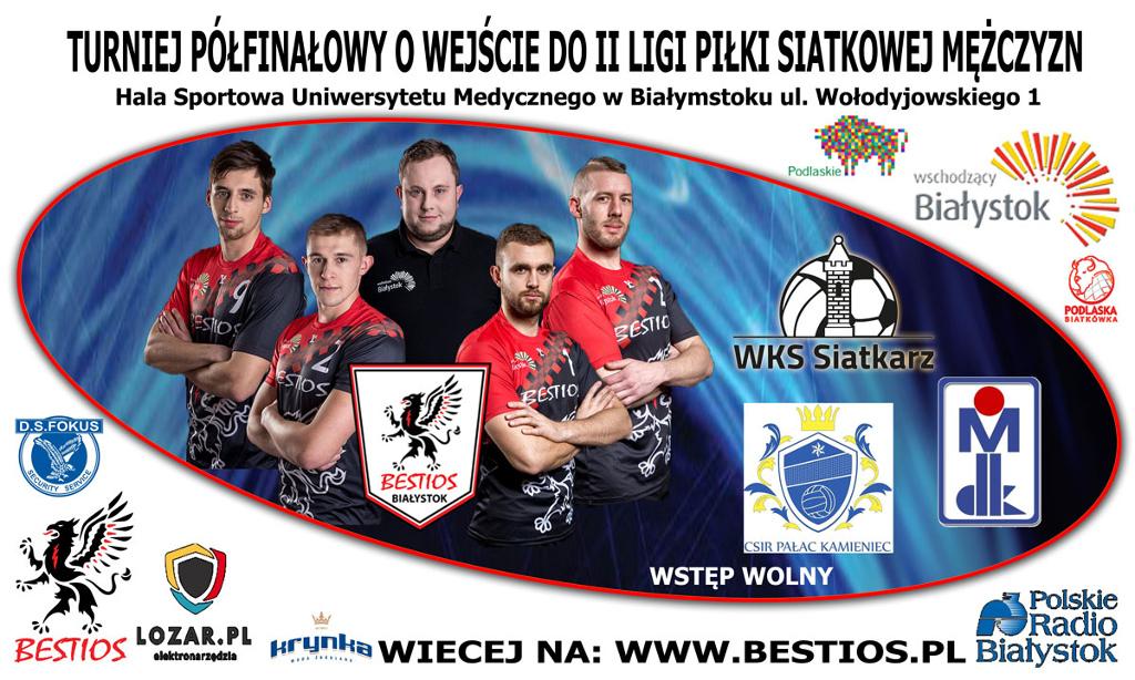 Turniej Barażowy o wejście do II Ligi Piłki Siatkowej, źródło: mat. org.
