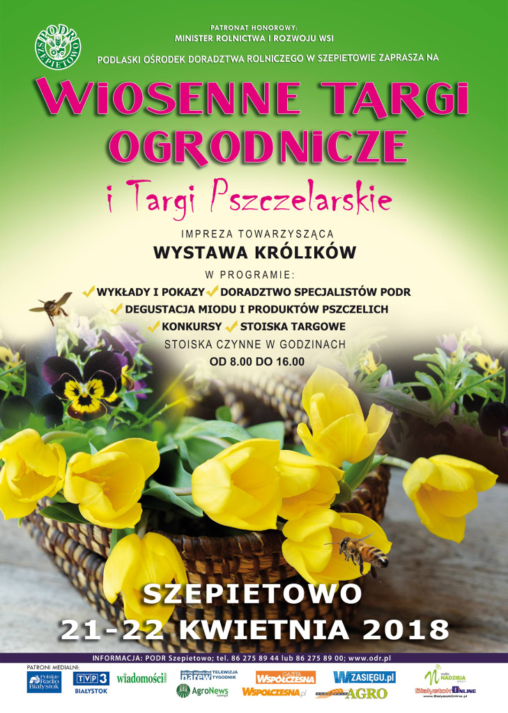 Wiosenne Targi Ogrodnicze i Targi Pszczelarskie w Szepietowie, źródło: mat. org.