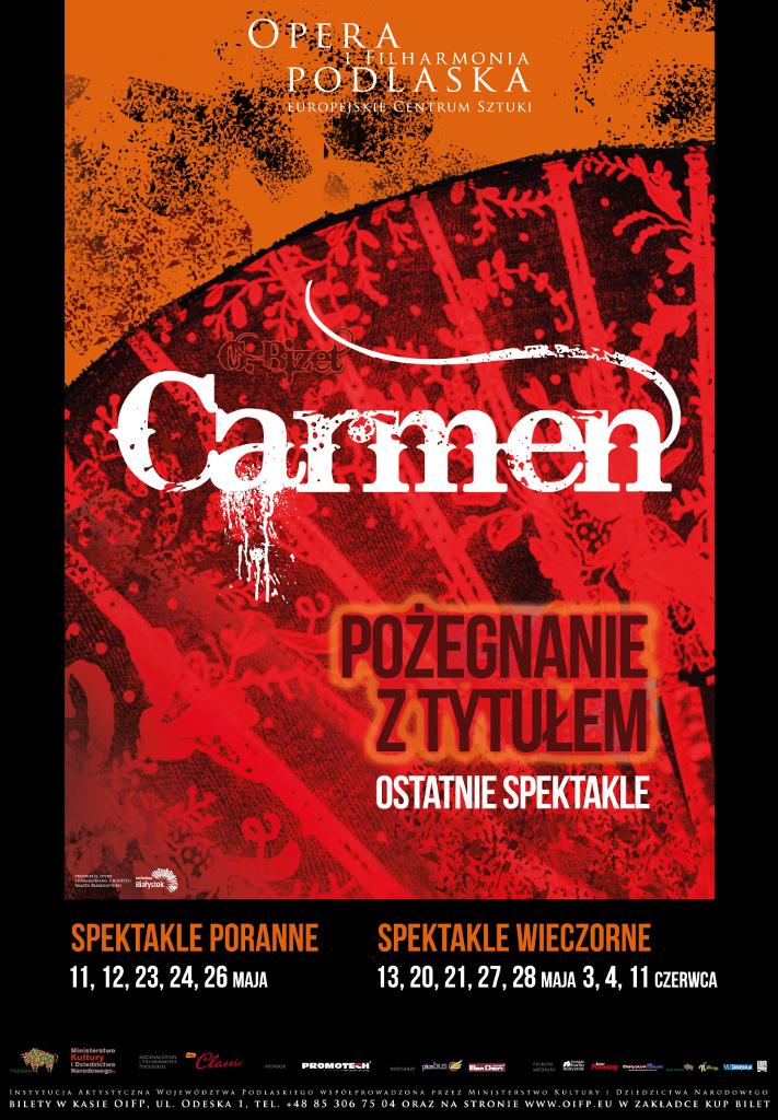 """Pożegnanie z """"Carmen"""" G. Bizeta w OiFP, źródło: mat. org."""