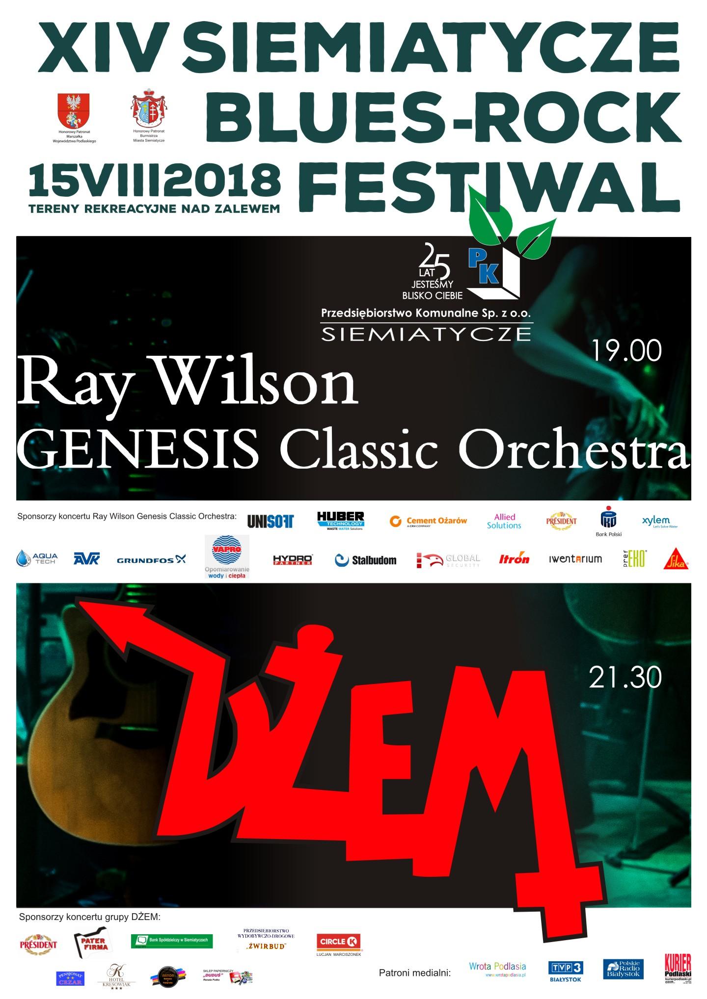 Plakat Siemiatycze Blues-Rock Festiwal
