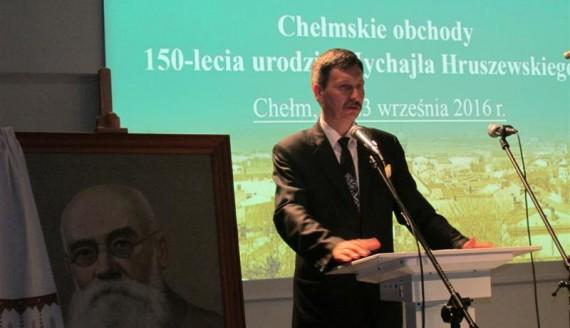 Prezes Towarzystwa Ukraińskiego dr Grzegorz Kuprianowicz. Fot.E. Ryżyk