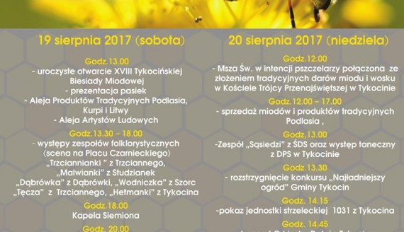 XVIII Tykocińska Biesiada Miodowa, źródło: mst. org