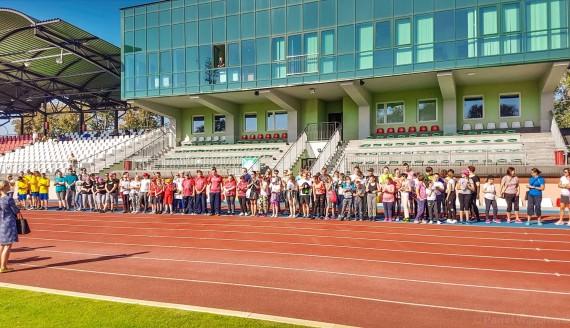Niepełnosprawni biorą udział w mityngu lekkoatletycznym w Łomży, fot. Paweł Wądołowski