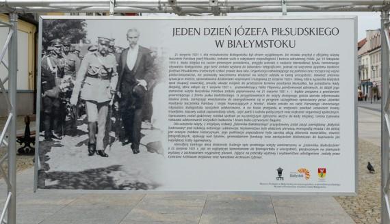 """Wystawa """"Jeden dzień Józefa Piłsudskiego w Białymstoku"""", fot. Dawid Gromadzki/UM Białystok"""