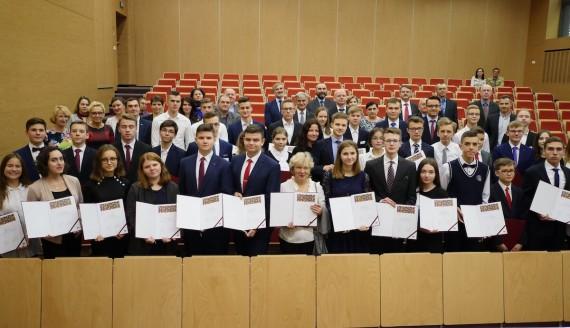 50 najlepszych uczniów w Podlaskiem odebrało stypendia naukowe, fot. Wojciech Oksztol/wrotapodlasia.pl
