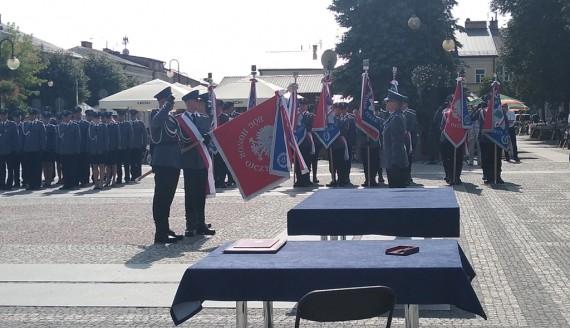 Augustowska policja otrzymała sztandar, fot. Marta Sołtys