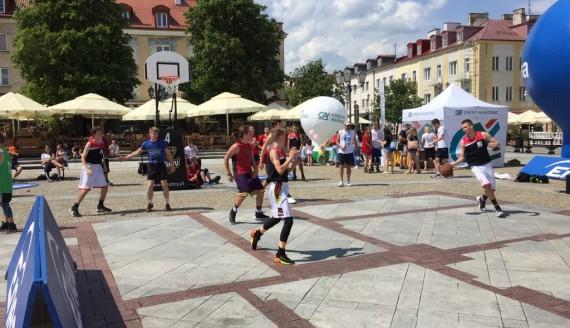 ENEA Streetball 2018 na Rynku Kościuszki w Białymstoku, fot. Marcin Mazewski