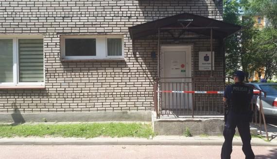 Napad na placówkę bankową na ulicy Zwierzynieckiej w Białymstoku, fot. Olga Gordiejew