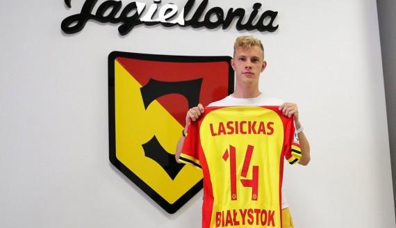 Justas Lasickas, źródło: Jagiellonia Białystok