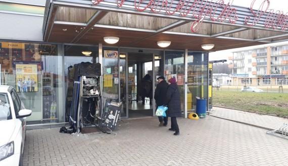 Złodzieje okradli bankomat przy ul. Komisji Edukacji Narodowej w Białymstoku, fot. Wojciech Szubzda