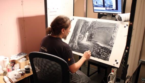 """Produkcja animacji """"Twój Vincent"""", fot. Sławomir Wambier"""