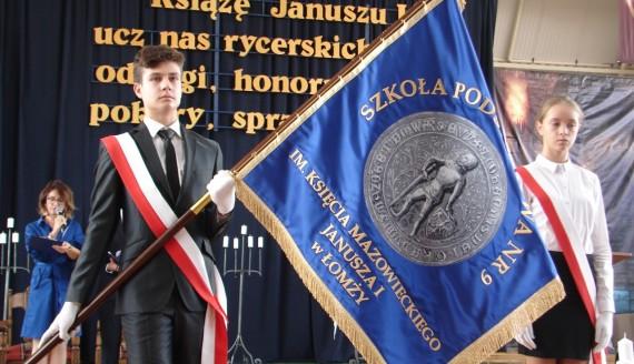 Książę Janusz I Mazowiecki patronem Szkoły Podstawowej nr 9 w Łomży, fot. Adam Dąbrowski