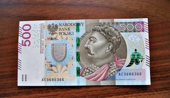 Nowy banknot 500 zł, fot. Adam Janczewski