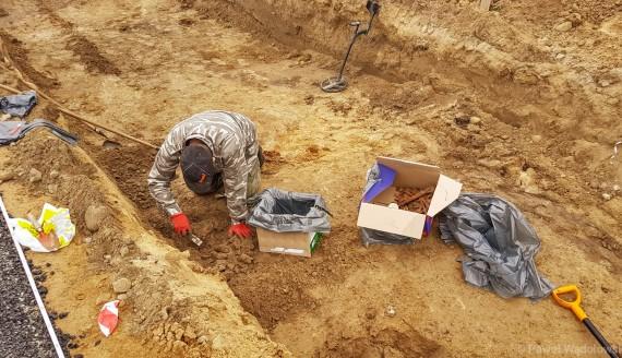 Archeolodzy znaleźli szczątki 7 osób w Mątwicy k. Nowogrodu, fot. Paweł Wądołowski