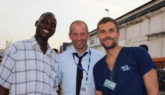 Dr Marcin Bierć (z prawej) i jego koledzy, źródło: UMB
