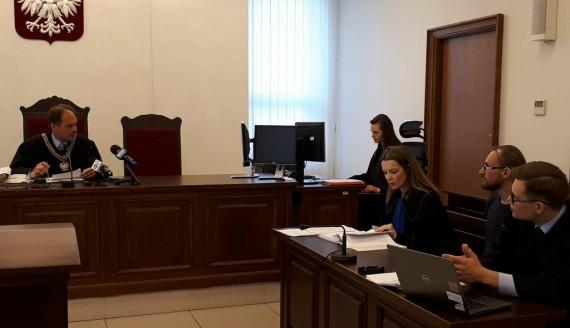 Sprawa blokowania sprzętu do wycinki drzew w Puszczy Białowieskiej w sądzie, fot. Marta Nazarko
