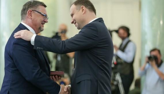 Burmistrz Kolna Andrzej Duda i Prezydent RP Andrzej Duda, źródło: Krzysztof Sitkowski /prezydent.pl