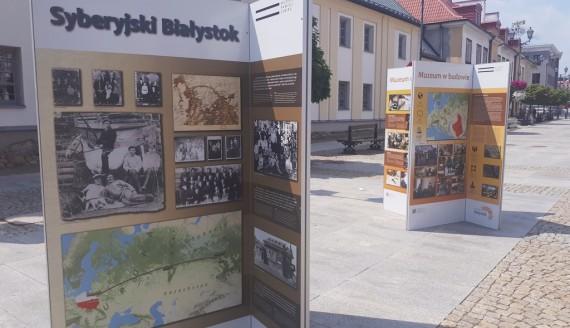 W centrum Białegostoku można oglądać plenerową wystawę poświęconą syberyjskiej wsi Białystok, fot. Edyta Wołosik