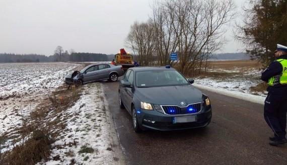 Wypadek w Szerenosach, źródło: Podlaska Policja