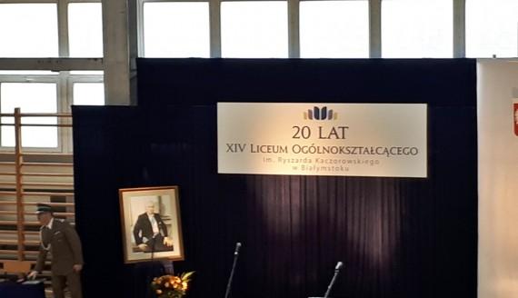 XIV Liceum Ogólnokształcące w Białymstoku świętuje 20-lecie istnienia, fot. Edyta Wołosik