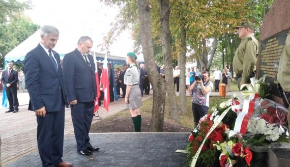 W Lipsku odsłonięto pomnik upamiętniający podchorążego Stanisława Żłobikowskiego, fot. Marta Sołtys