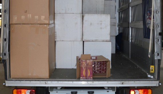 27 tys. paczek papierosów ukrytych między styropianem, źródło: http://www.podlaskie.kas.gov.pl