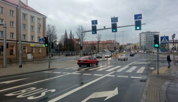 Buspas na ul. Sienkiewicza w Białymstoku, fot. Wojciech Szubzda
