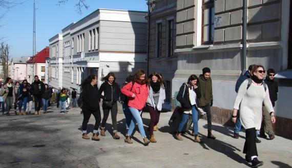 Grupa uczniów z Izraela odwiedziła Łomżę, fot. Adam Dąbrowski