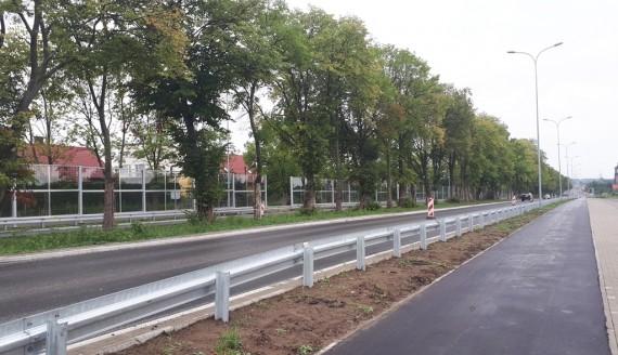 Fragment remontowanej ul. Ciołkowskiego w Białymstoku otwarty, fot. Edyta Wołosik