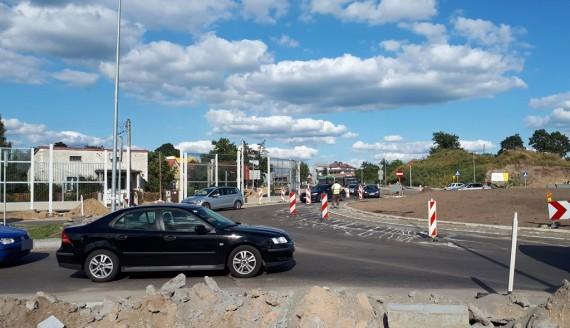 Zmiana organizacji ruchu w rejonie skrzyżowania ul. Nowowarszawskiej i Ciołkowskiego w Białymstoku, fot. Monika Kalicka