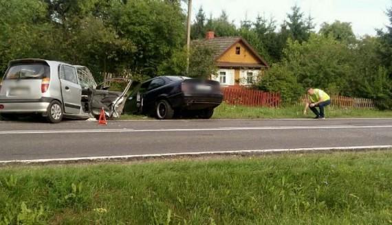 Wypadek na trasie Białystok - Bielsk Podlaski, fot. KWP Białystok