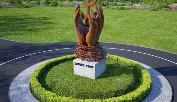 Wizualizacja pomnika upamiętniającego ofiary Obławy Augustowskiej